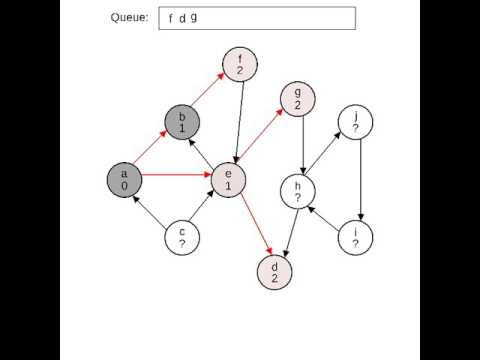 Breadth-First Search of a Directed Graph