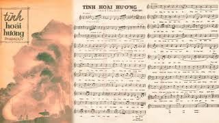 🎵 Tình Hoài Hương (Phạm Duy) Thái Thanh Pre 1975 | Tờ Nhạc Xưa