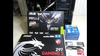 iNTEL i5-4460  Z97 GAMING 3 GTX 960 Gaming PC Montaj