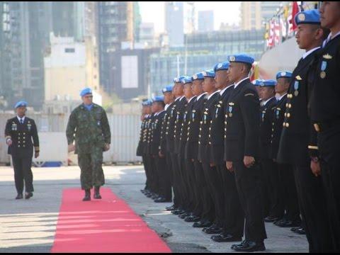 KBRI Beirut - MEDAL PARADE KRI BT 357 SATGAS MTF KONGA XXVIII-I DI UNIFIL