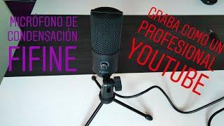 MICROFONO  PARA YOUTUBE, FIFINE K669B , Microfono de condensacion Aliexpress