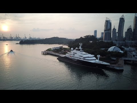 DJI Mavic Pro - Octopus Superyacht @ Marina at Keppel Bay, Singapore
