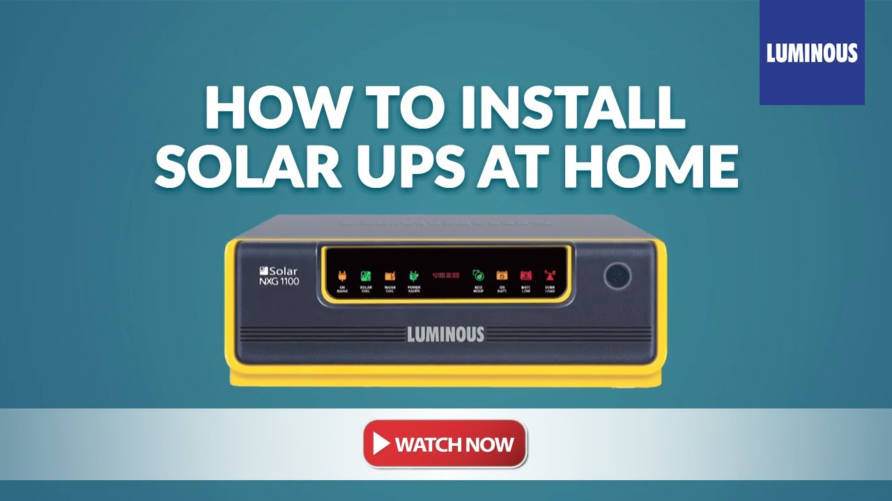 Solar Nxg Ups Installation Youtube Connection Wiring Diagram