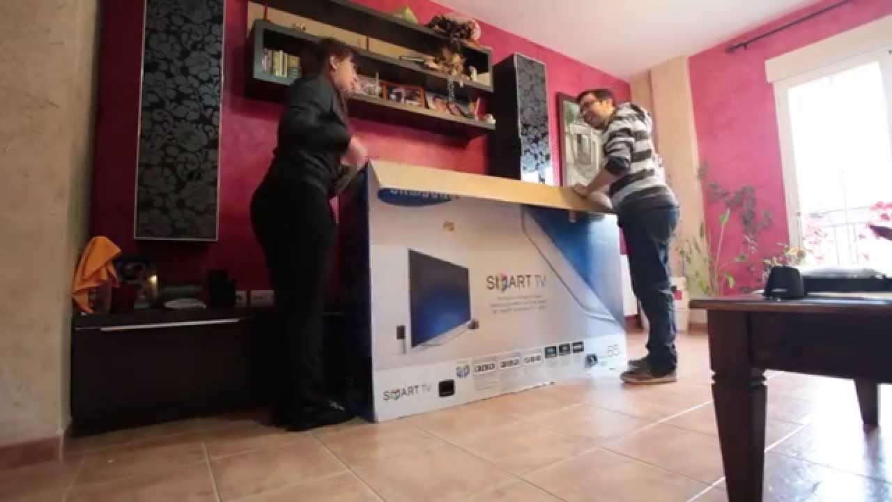 "Unboxing Samsung UE65ES8000 65"" Smart TV"