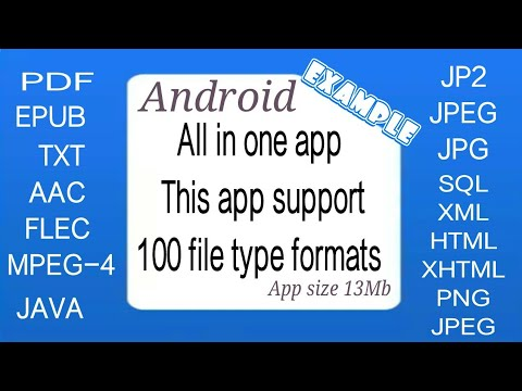 | How To Open Any File Type | All In One App This App Support 100 File Type Formats | Android