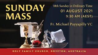 Sunday Mass | 01 AUG 9:30 AM (AEST) | Holy Family Church, Doveton