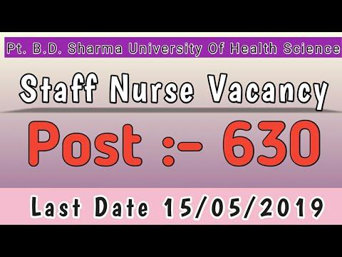 Staff Nurse Vacancy Post 630 In PGI Rohtak
