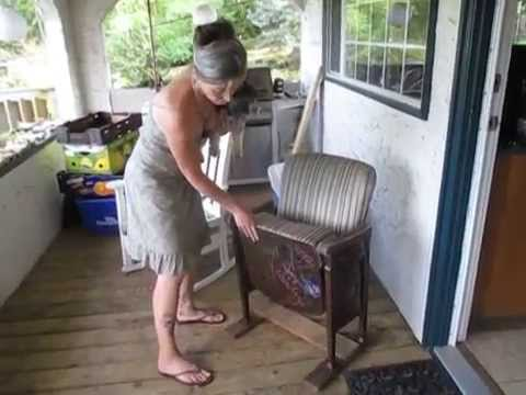 Vintage Theater Chair - Vintage Theater Chair - YouTube