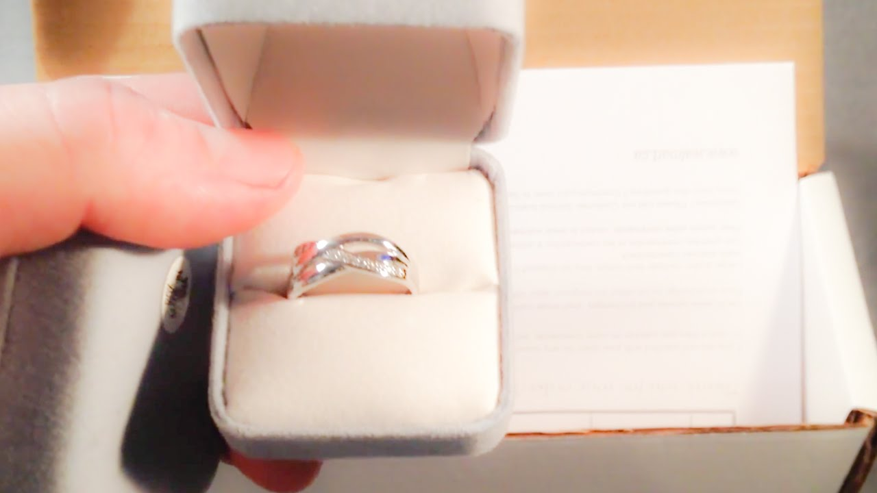 unboxing Sterling Silver CZ Ring from Walmart online YouTube
