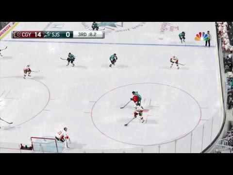 NHL 18 CALGARY FLAMES VS SAN JOSE SHARKS