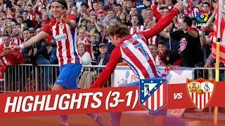 Resumen de Atlético de Madrid vs Sevilla FC (3-1)