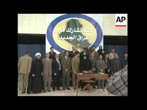 Signing of Iraq's interim constitution is delayed