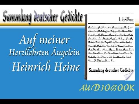 Auf Meiner Herzliebsten äugelein Heinrich Heine Hörbuch Sammlung Deutscher Gedichte Audiobook