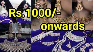 Rs.1000/- Onwards All New Bridal Set, Necklace | New Launch Jewel shop #Sowcarpet #rentalbridalsets