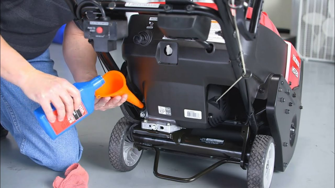 Honda Snow Blower >> Honda HS720 Snow Blower Maintenance and Storage - YouTube