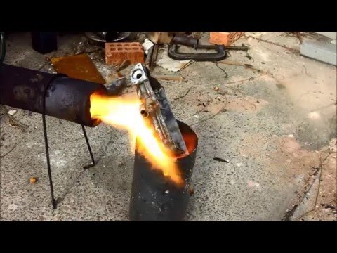 Torpedo Waste oil burner Lighting and Metal melting.