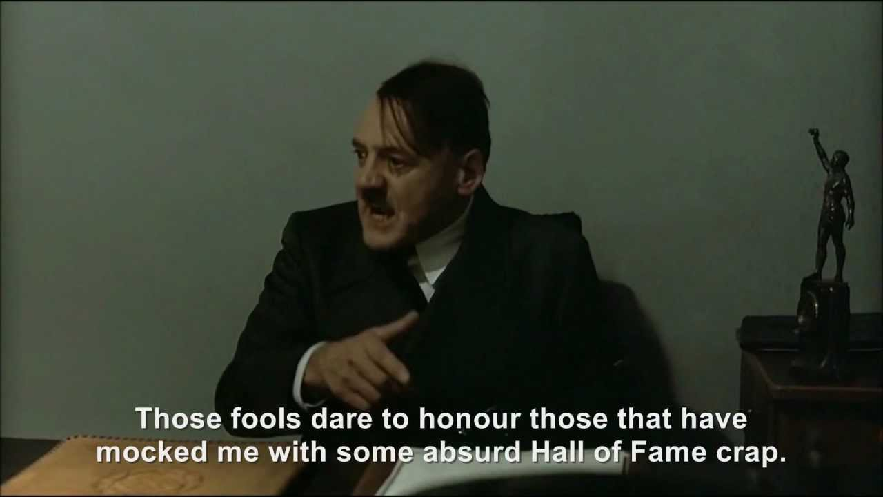 Hitler is informed about the Downfall Parodies Hall of Fame