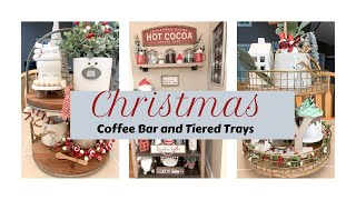 DECORATE MY CHRISTMAS 2019 COFFEE AND HOT COCOA BAR | 2 TIERED TRAY DECOR IDEAS | RAE DUNN