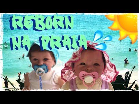Bebês Reborn - Rotina de PRAIA saindo do HOTEL