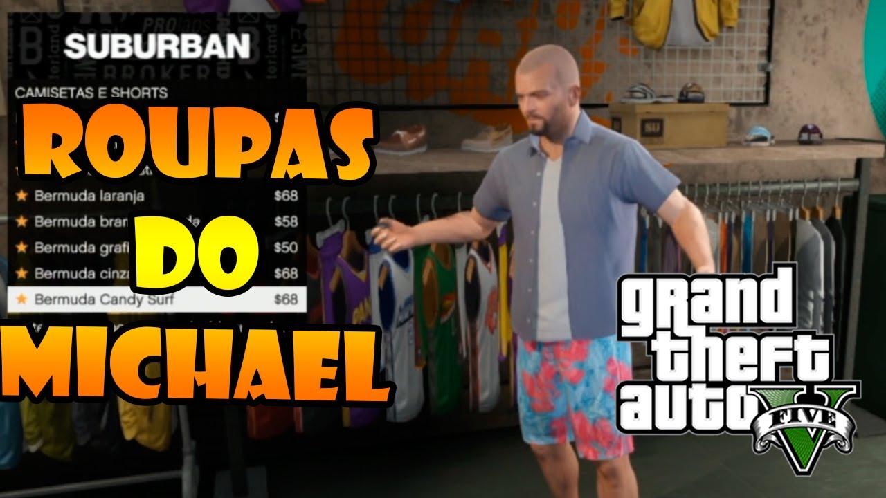 fb453709f GTA V  TODAS AS ROUPAS DO MICHAEL - VISITANDO TODAS AS LOJAS - YouTube