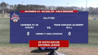 2015 USYS National League - Legends FC 98 vs. Chicago Academy - U17 Girls - 10am - Field 2
