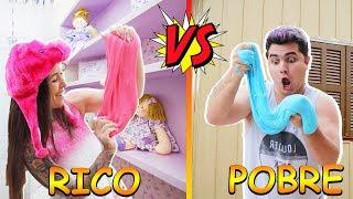 RICO VS POBRE FAZENDO AMOEBA / SLIME |  Maloucos
