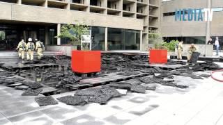 Middelbrand bij Erasmus Universiteit Burgemeester Oudlaan Rotterdam