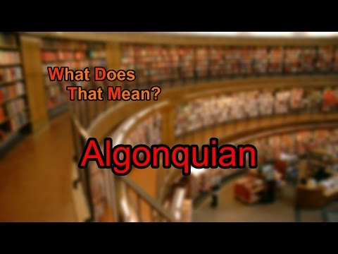 What does Algonquian mean?