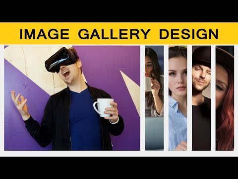 How To Make Image Gallery Using HTML And CSS |  Animated Image Gallery Design For HTML Website