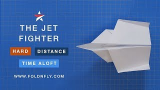 Fold 'N Fly ✈ The Jet Fighter Paper Airplane