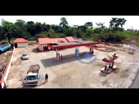 Aerial View Road Tour Benin,Ore, Lagos Express Road