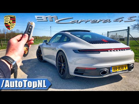 2019 PORSCHE 911 CARRERA 4S 992 REVIEW POV Test Drive on AUTOBAHN & ROAD by AutoTopNL