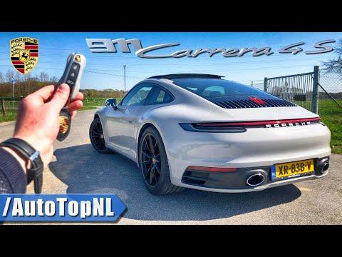 2019 PORSCHE 911 CARRERA 4S 992 REVIEW POV Test Drive on AUTOBAHN & ROAD by AutoTopNL