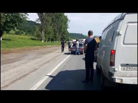 Страшная авария на трассе. Осетия - Владикавказ - Эльхотово - Карджин - Змейская.