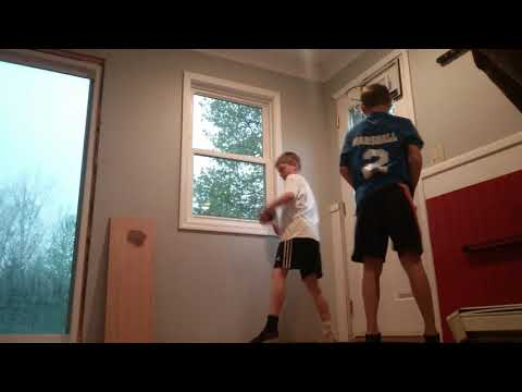 Max and xander vs  mini hoop