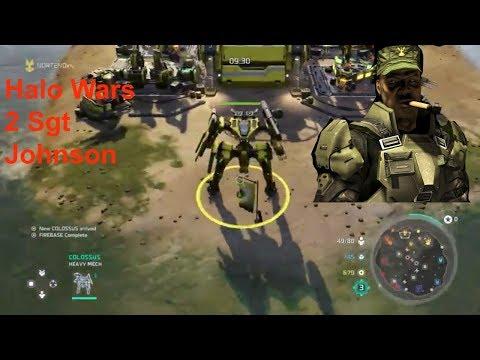 Halo Wars 2 - SGT Johnson (3v3 online gameplay)