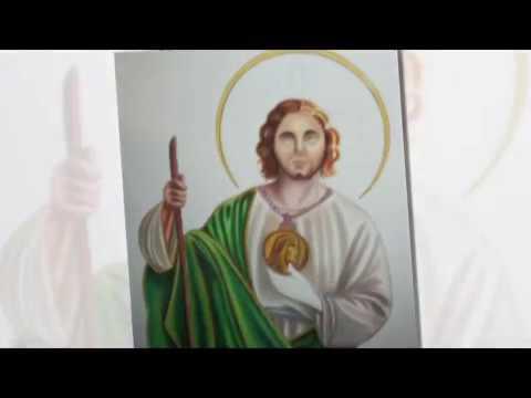 San Judas Tadeo Lapizes De Color Youtube