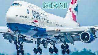 BRITISH 747 Action from Miami