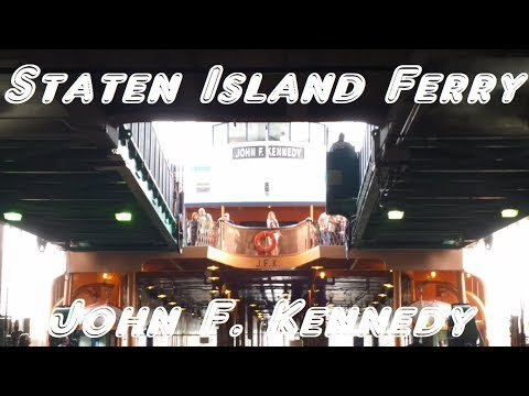 Staten Island Ferry - A ride on the ferry boat John F Kennedy