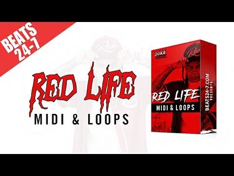 New Hip Hop Drum Kit + MIDI & Loops Pack - Red Life