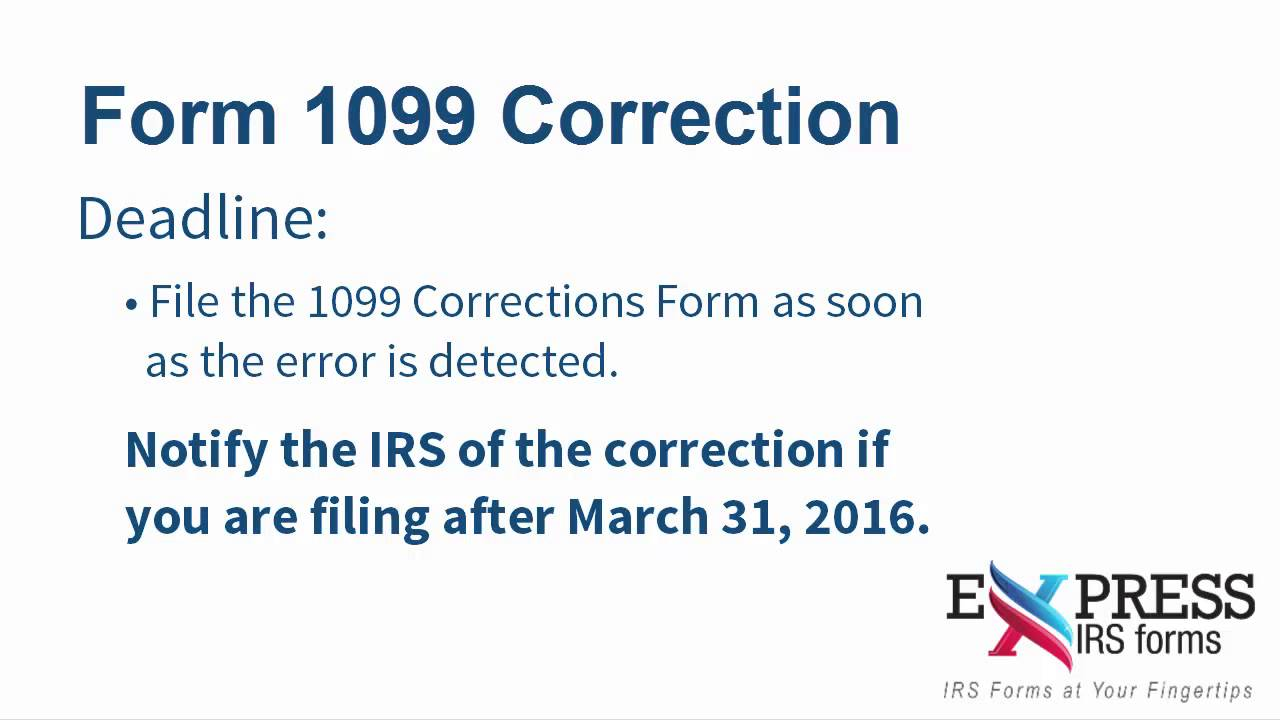 E file form 1099 correction with expressirsforms youtube e file form 1099 correction with expressirsforms falaconquin