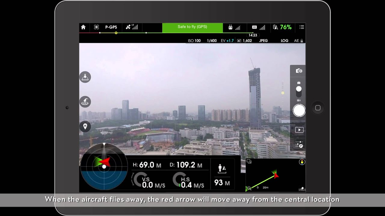 DJI Safety Tips - How to Use the Attitude Indicator and Map in the DJI GO  App