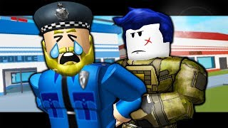 THE LAST GUEST ARRESTS OFFICER FINKLEBERRY! (A Roblox Jailbreak Roleplay Story)