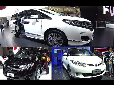 TOP 3 2016, 2017 VANs: Honda Elysion, Toyota Previa Estima, Nissan Quest, Lottery 50$ In description