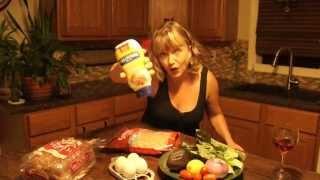 Making Open Faced Shrimp Sandwich