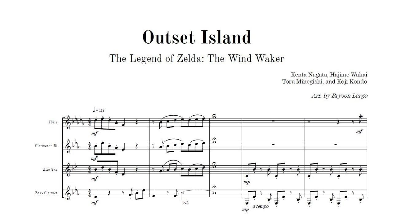 Outset Island for Woodwind Quartet