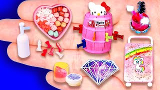 32 DIY MINIATURE FOODS AND CRAFTS FOR DOLLHOUSE BARBIE