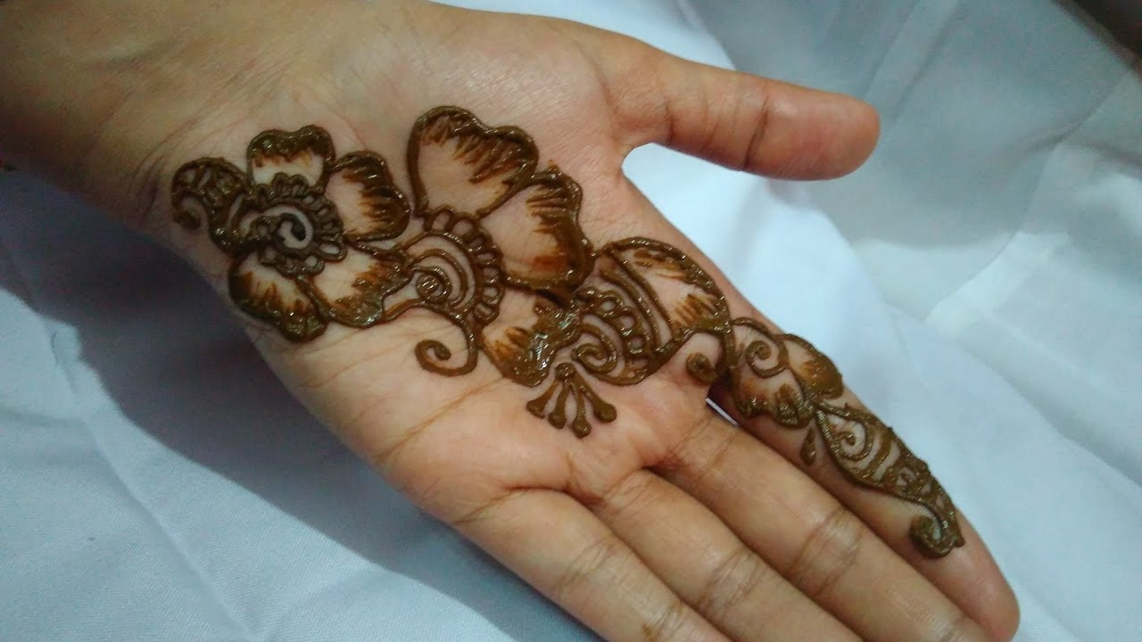 Simple Easy Mehendi Design For Beginners Youtube