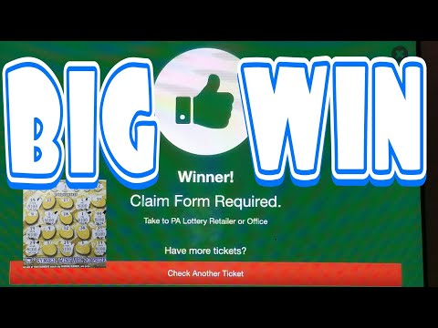 Big Win Claim Ticket. Missed a number. Covered all the bases. Pa lottery scratch tickets.