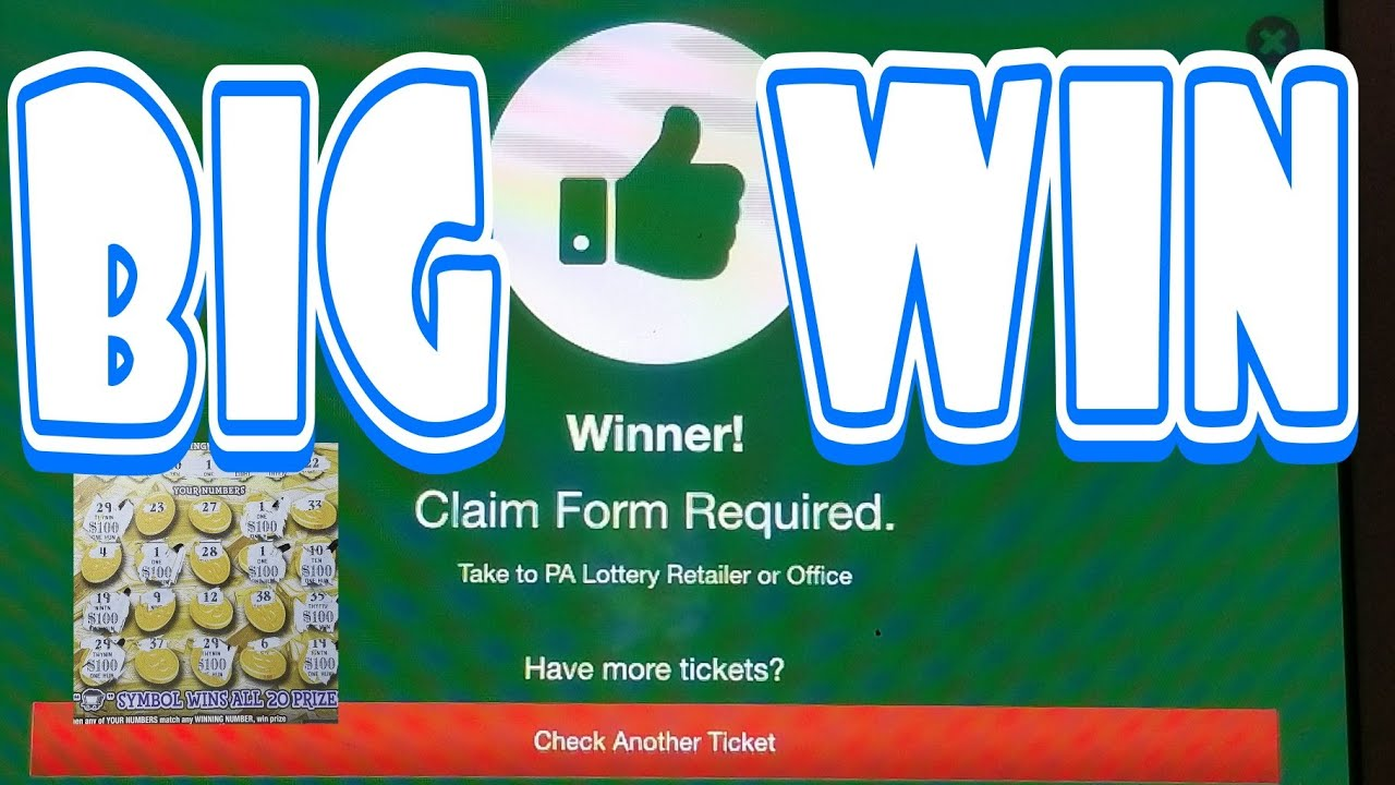 Big Win Claim Ticket. Missed a number. Covered all the bases. Pa ...